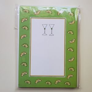 Cocktail themed notecards W/ ENVELOPES